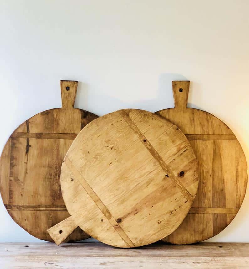 Large Circular Bread Board