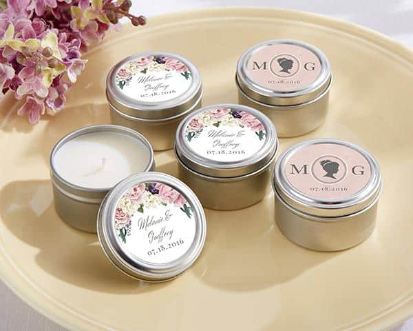 PERSONALIZED ENGLISH GARDEN TRAVEL CANDLE TIN