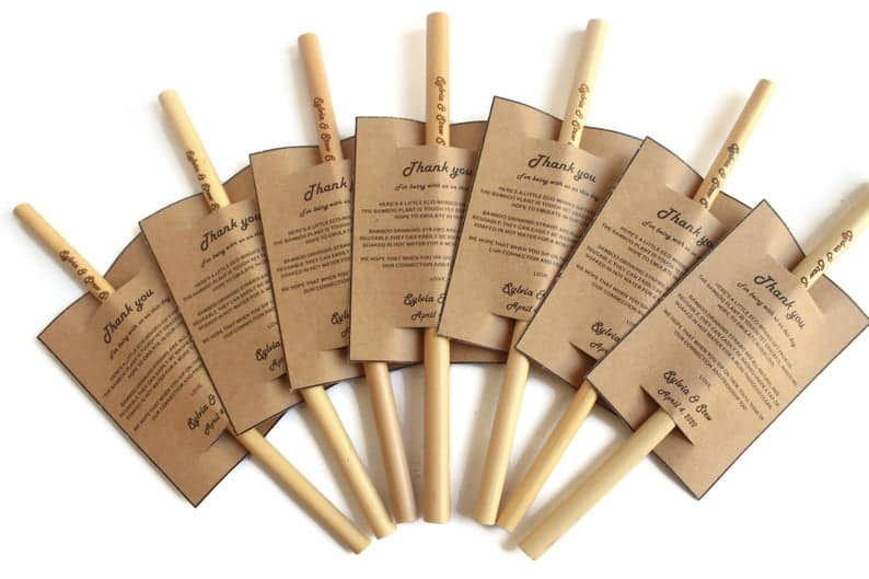 Personalized Engraved Bamboo Straws