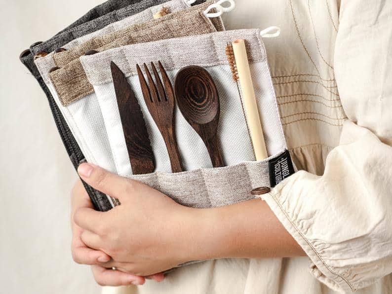 Zero Waste Wooden Cutlery Set