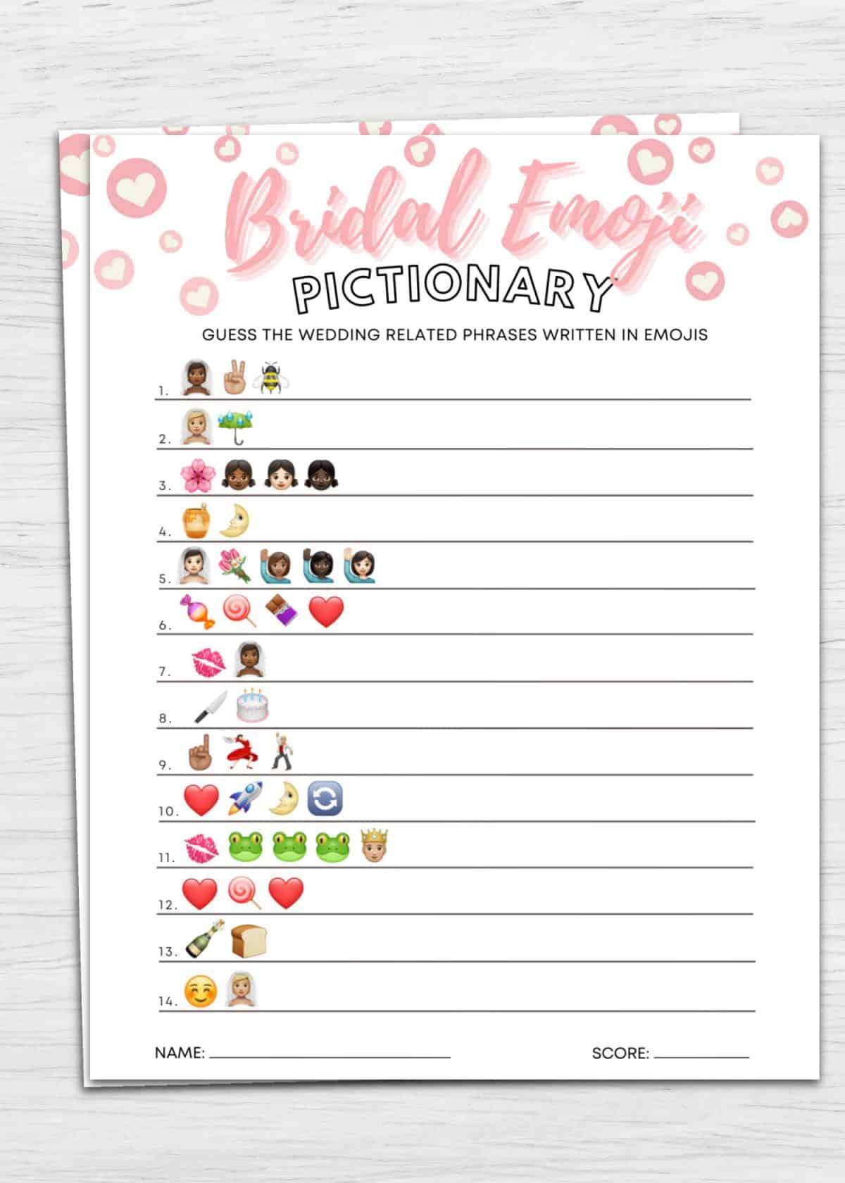 bridal emoji pictionary