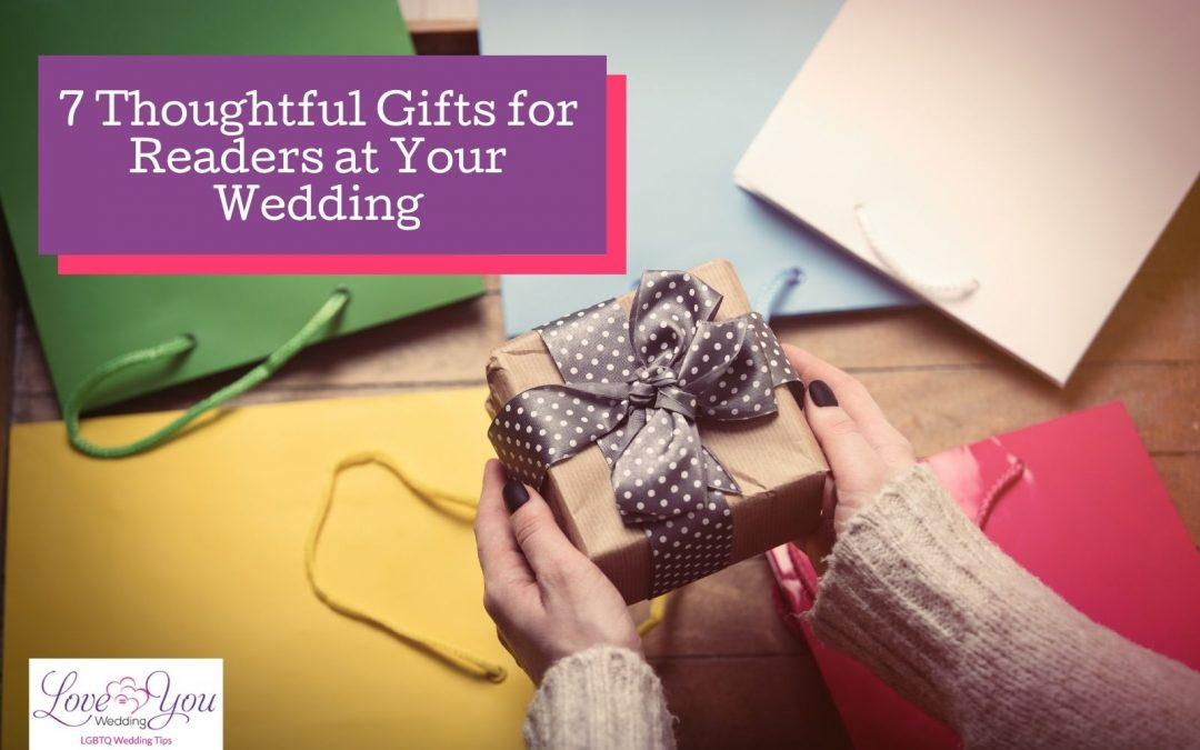 7 Thoughtful Gift Ideas for the Readers at Your Wedding in 2021