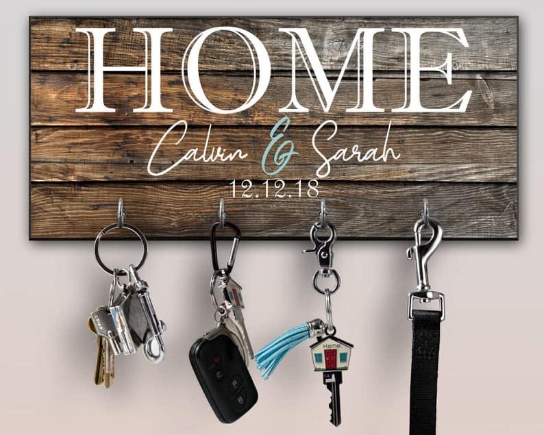 Personalized Key Ring Holder Family Key Holder Home Key   Etsy