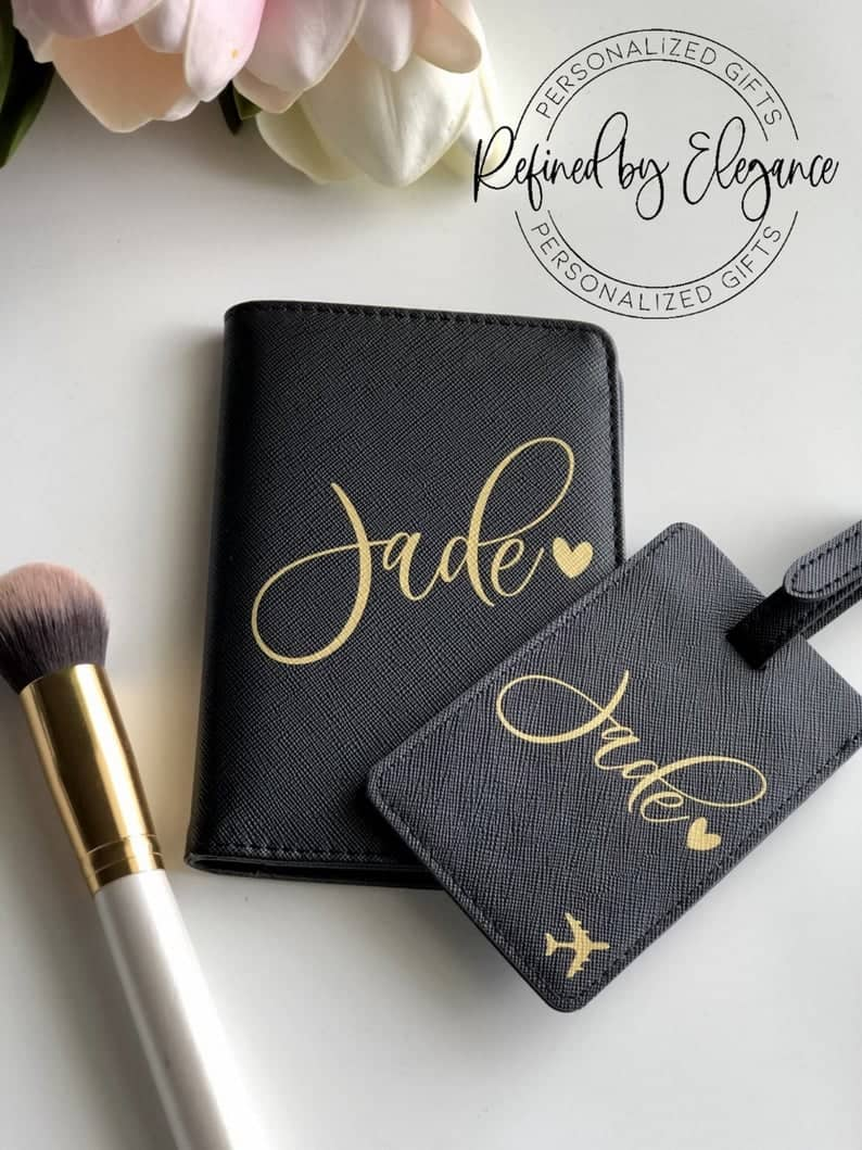 Personalized Luggage Tag and Passport Cover Set  Passport   Etsy