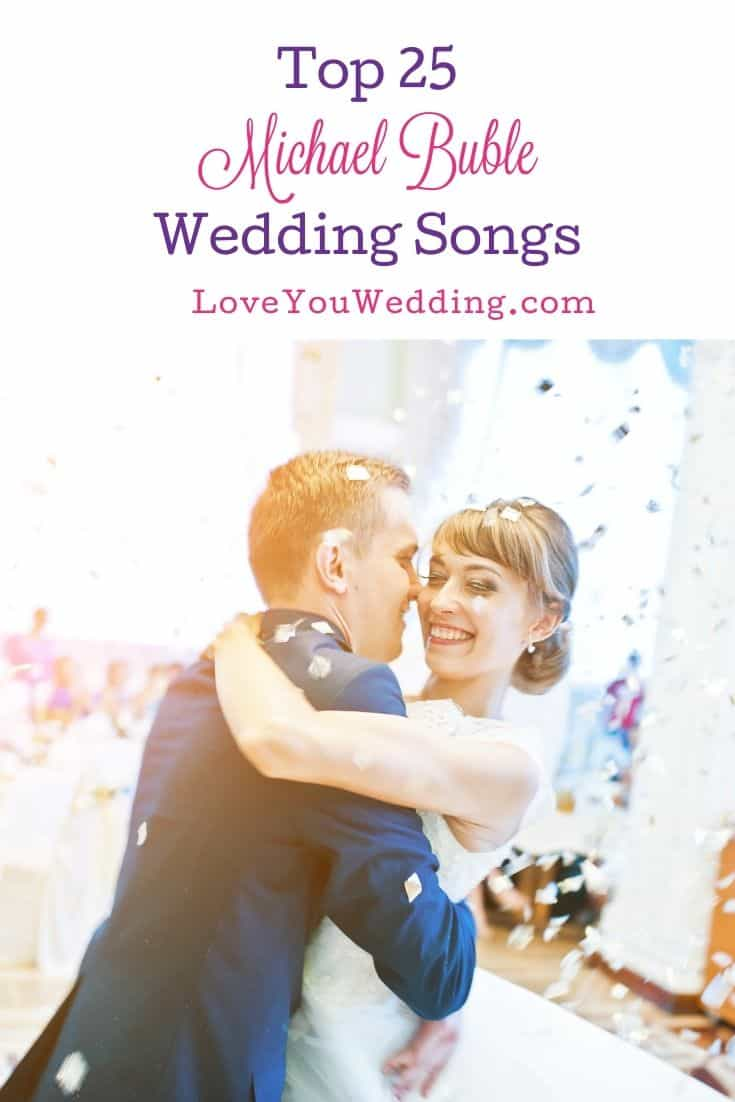 couple dancing to the tune of Michael Buble wedding songs