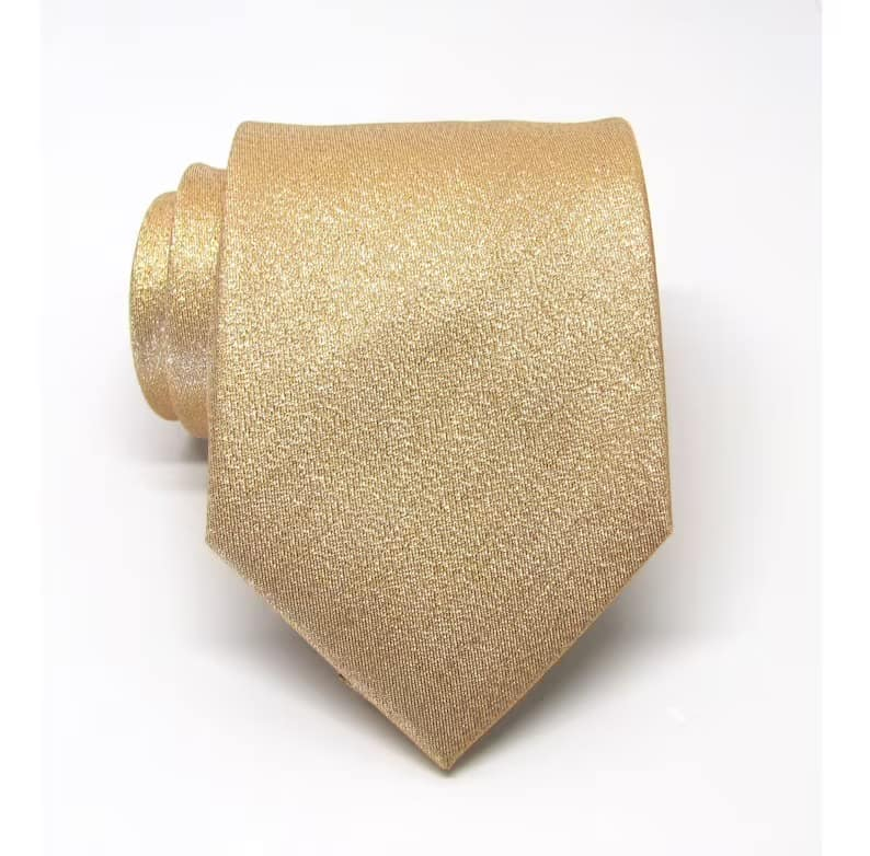 Mens Ties. Necktie Lamé Gold Metallic Tie with Matching Pocket | Etsy