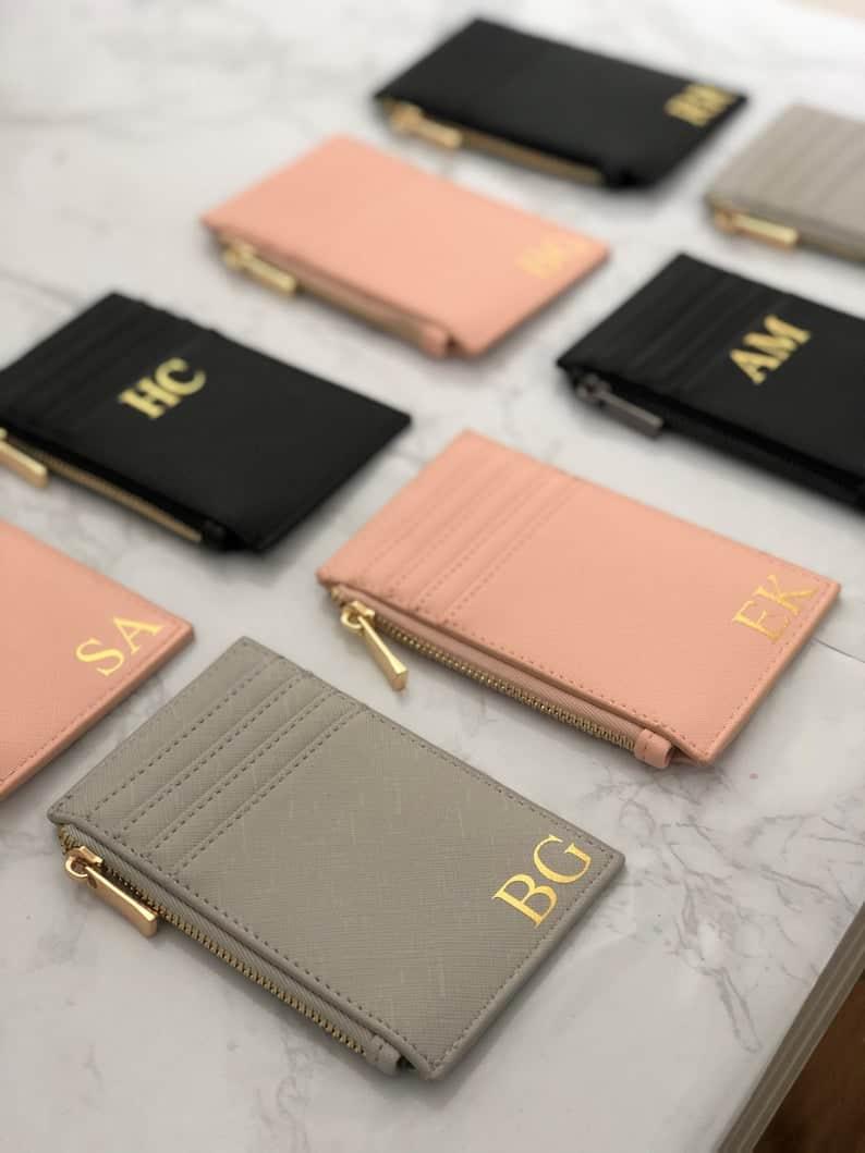 Monogram purse  Personalised card holder  Women's wallet   Etsy