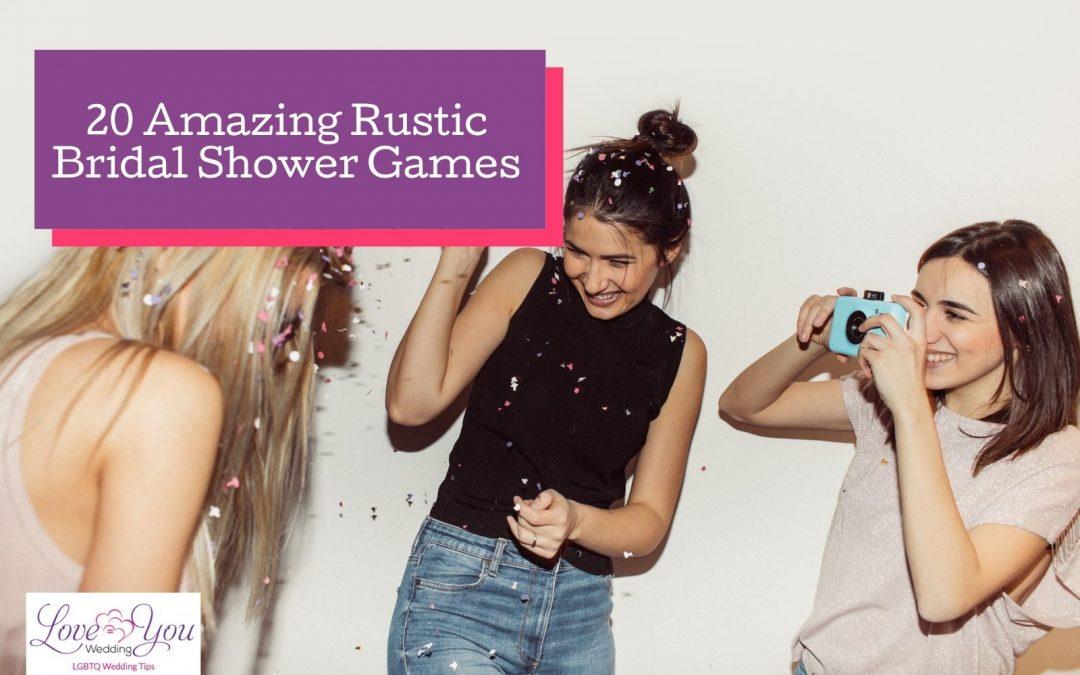 Rustic Bridal Shower Games: Top 20 Options