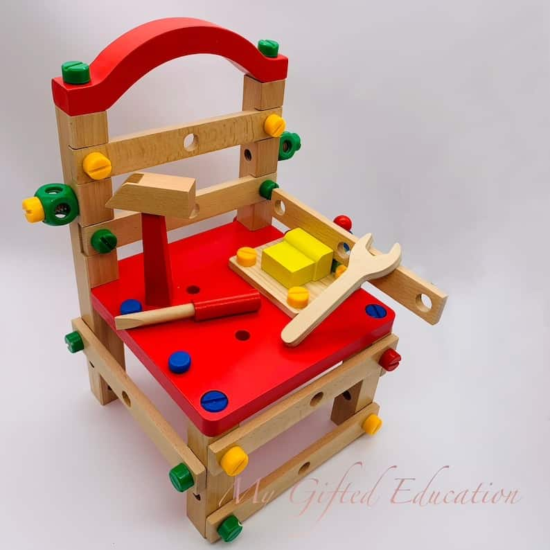 wooden chair tools set