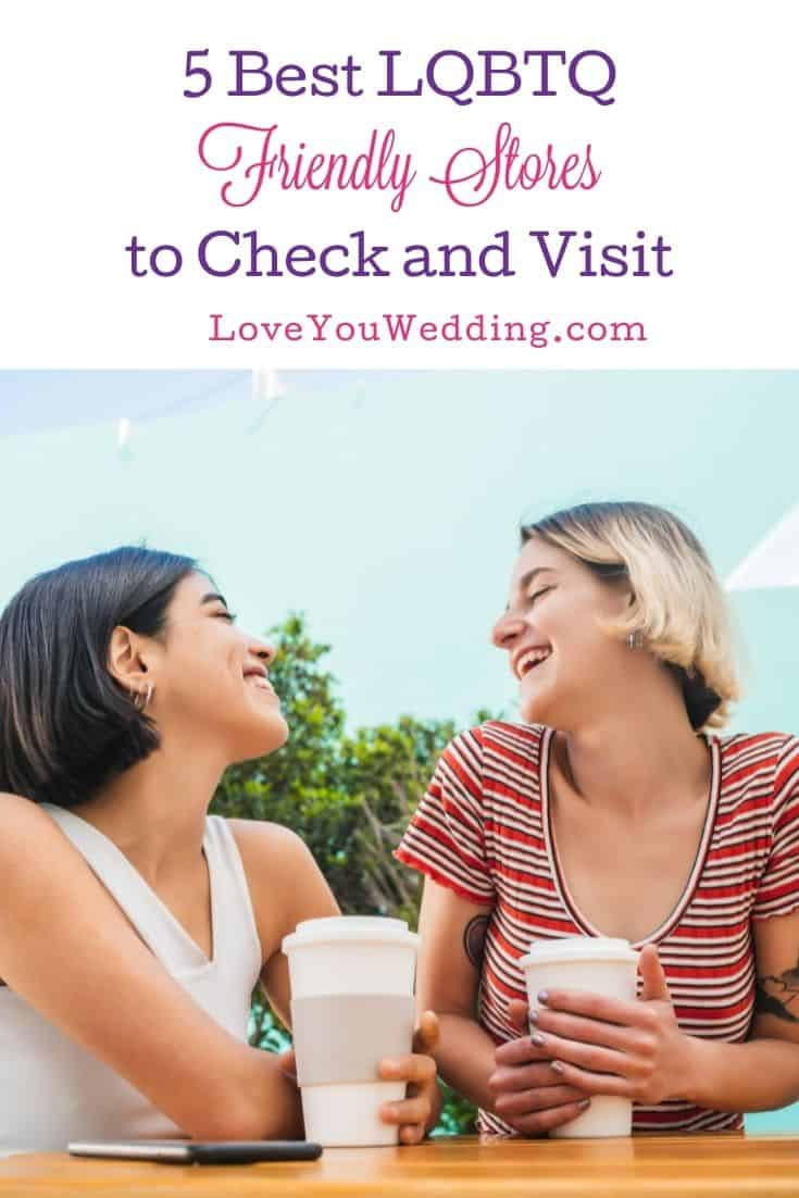 lesbian couple drinking coffee at one of the best LGBTQ Friendly Stores