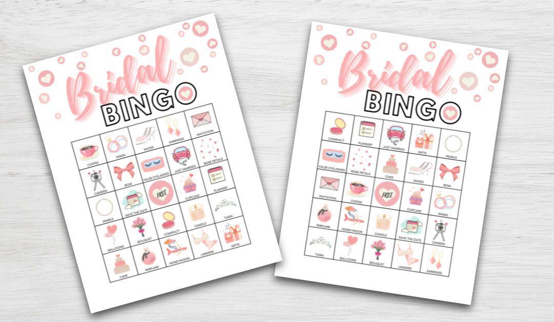 Bridal Bingo Printable Shower Game