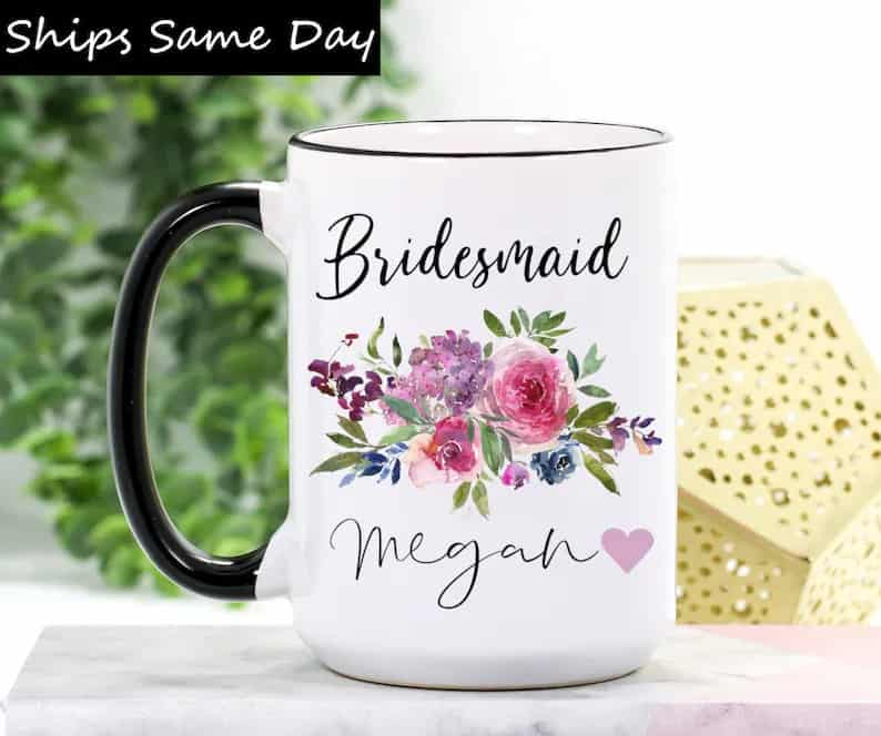 Bridesmaid Mug  Bridesmaid Gift Mug  Wedding Gift for | Etsy
