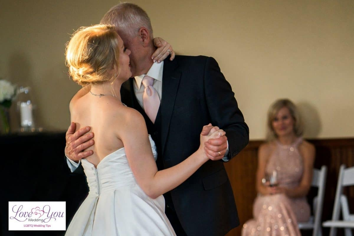 dancing father and bride to the tune of best father daughter dance songs