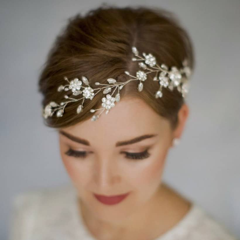 pixie cut with flower head