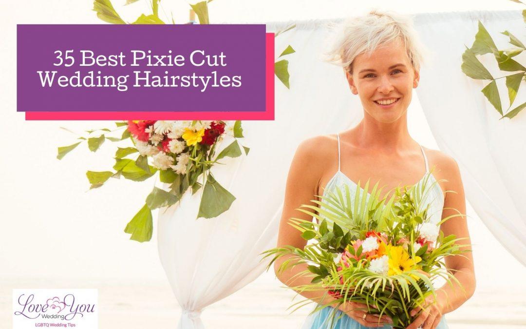 35 Pretty Wedding Hairstyles for a Pixie Cut