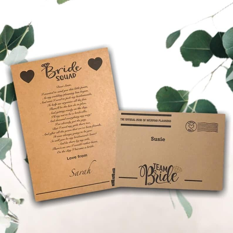 Bridesmaid proposal gift poemPersonalised poem for a | Etsy