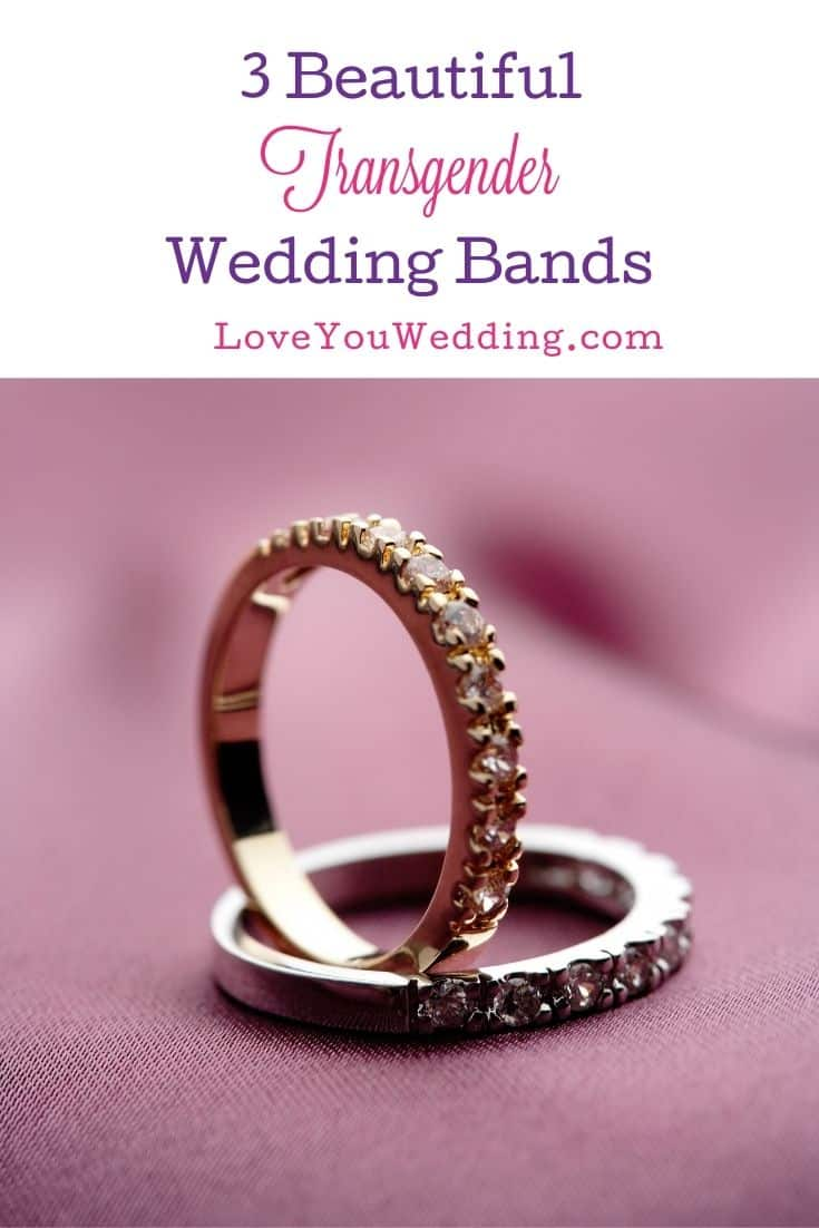 transgender wedding bands in gold and silver