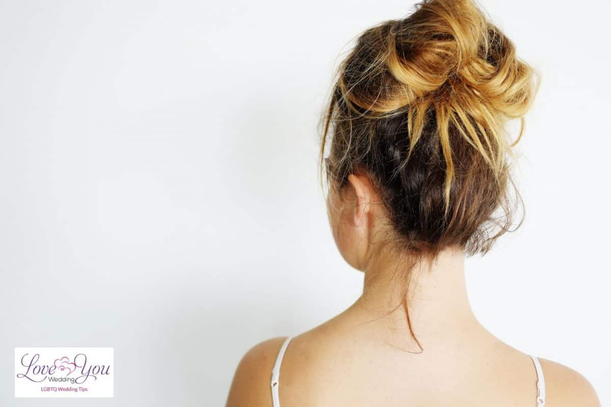lady with a messy bun hairstyle