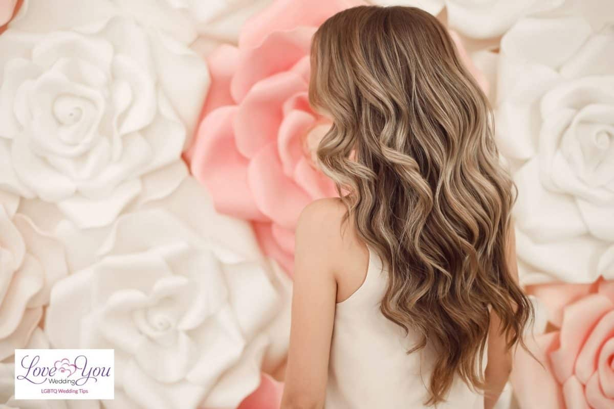 bride with perfect curls