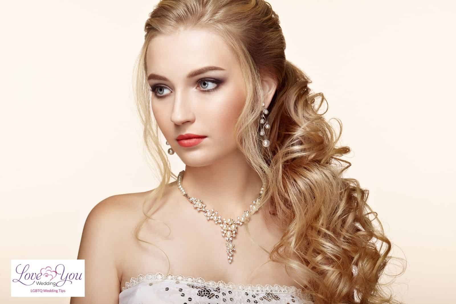 bride with wedding hairstyles extensions