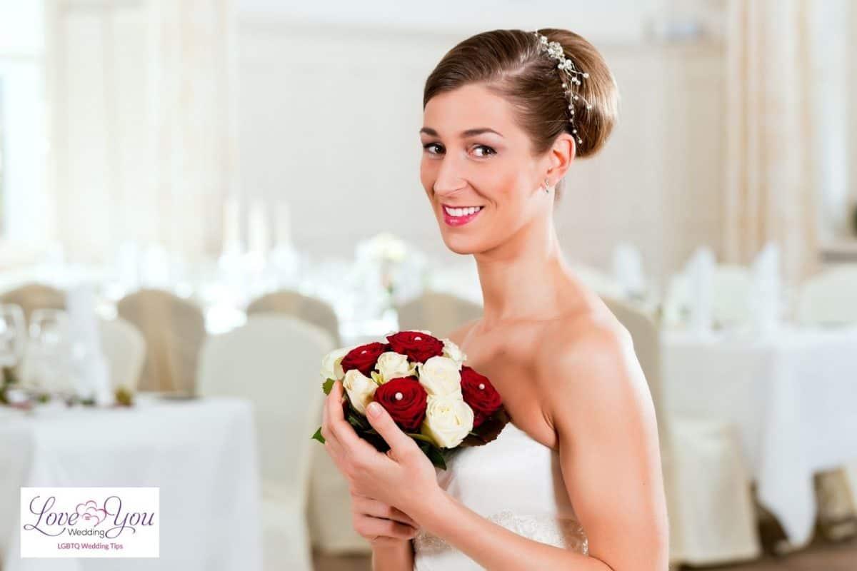 bride with high bun
