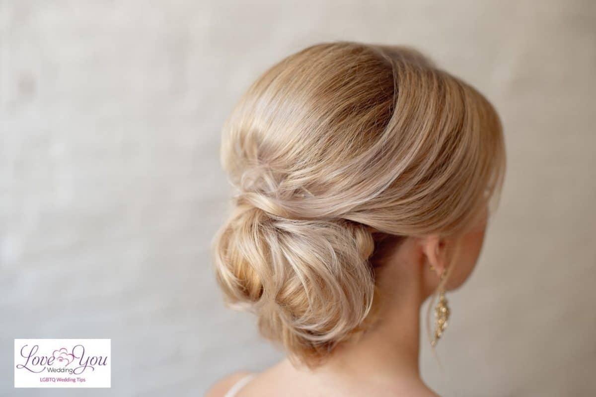 bride with low bun hair