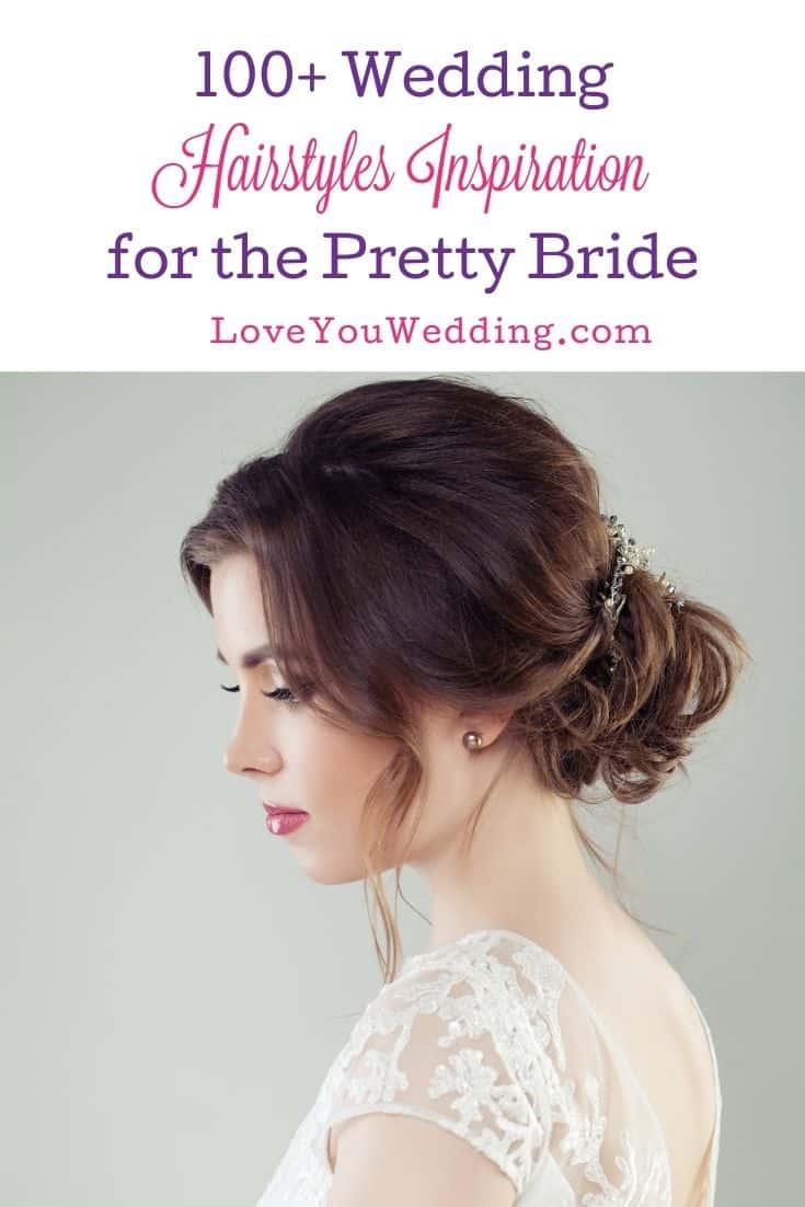 beautiful bride with curly bun