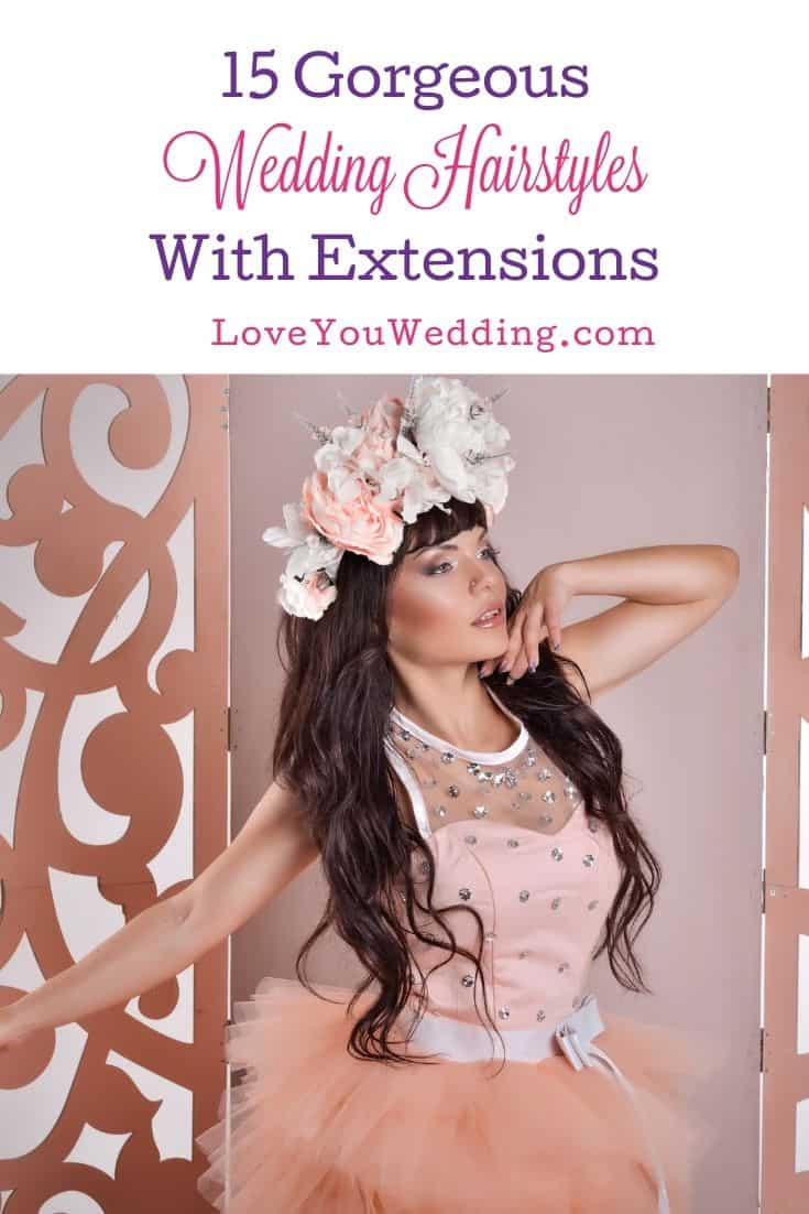 pretty bride with wedding hairstyles with extensions