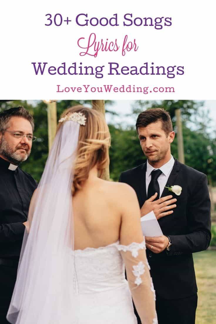 man reading his wedding vows for the bride