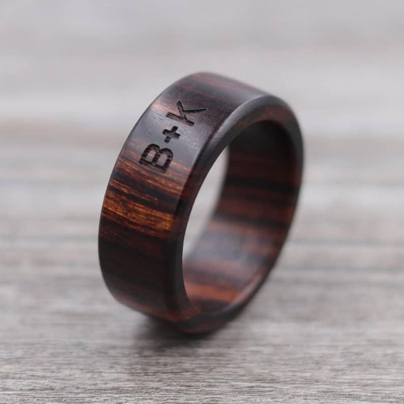 Desert Ironwood Wood Ring  Custom Wood Ring  Personalized | Etsy