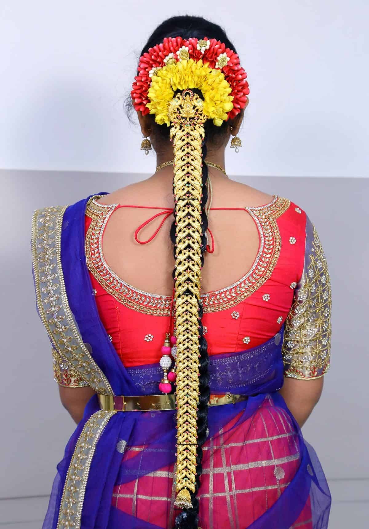 Asian wedding hairstyle with passa