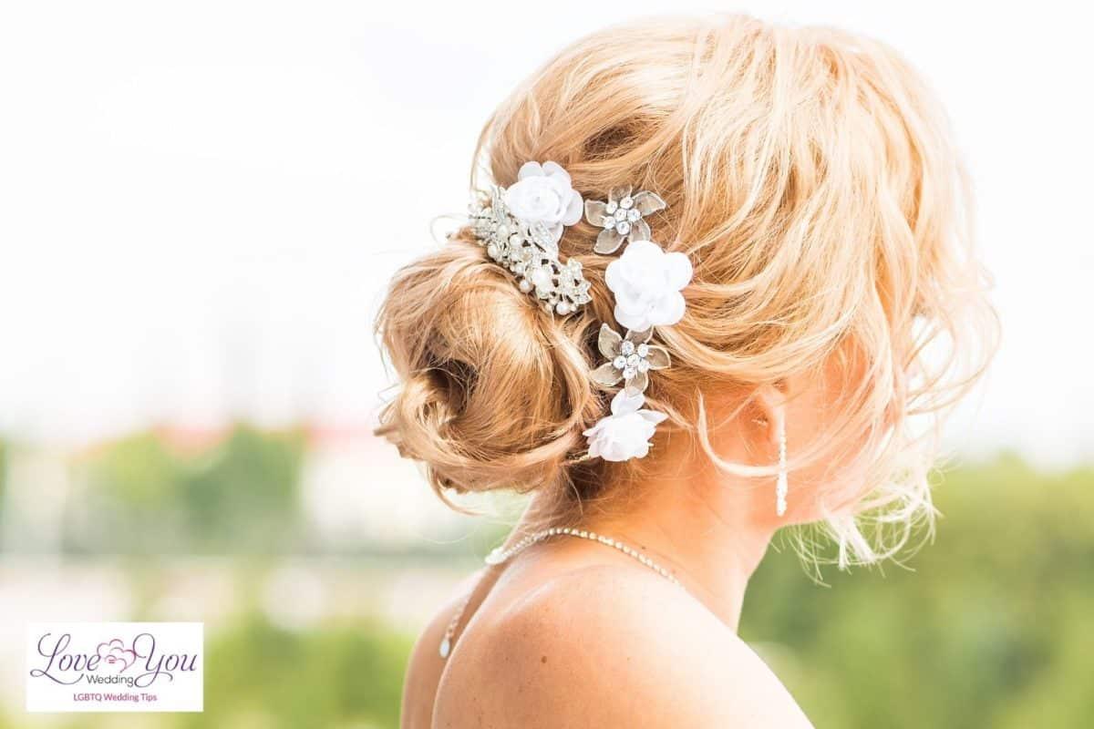 messy bridal bun wedding hairstyles for thin hair